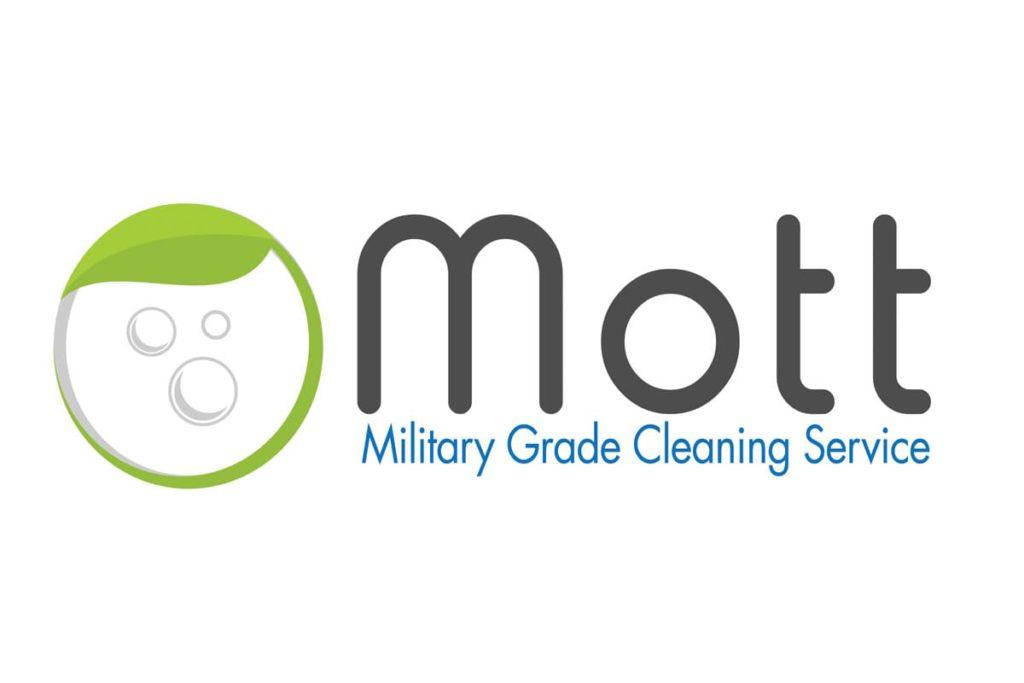 Mott cleaning logo design