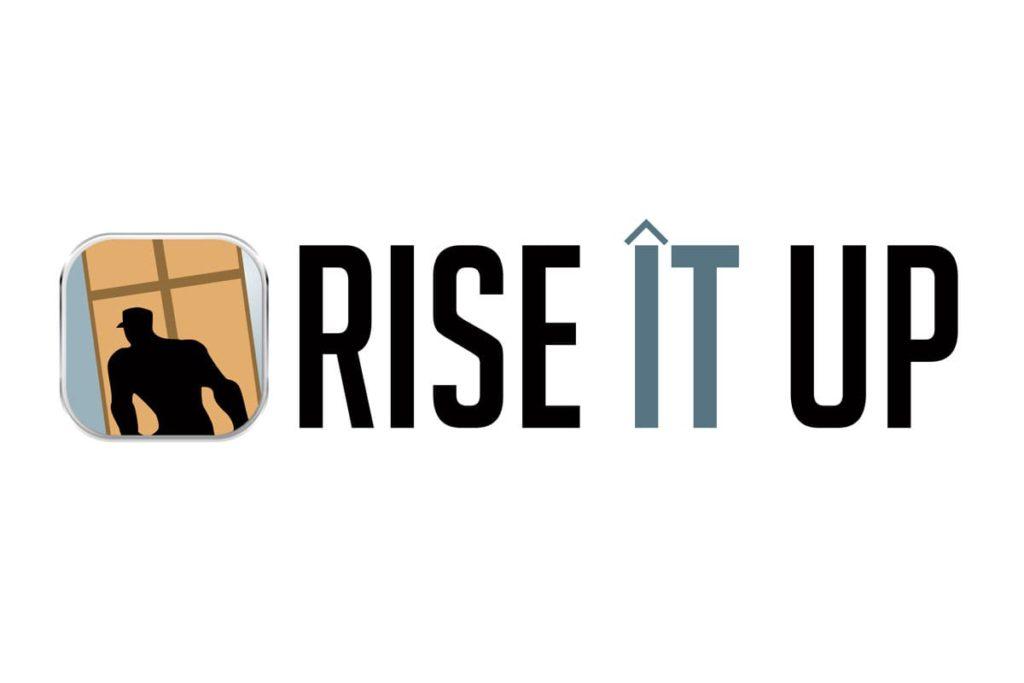 rise it up logo design