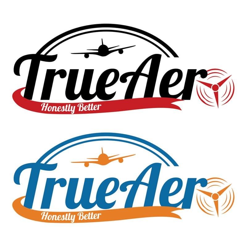 True Aero Logo design
