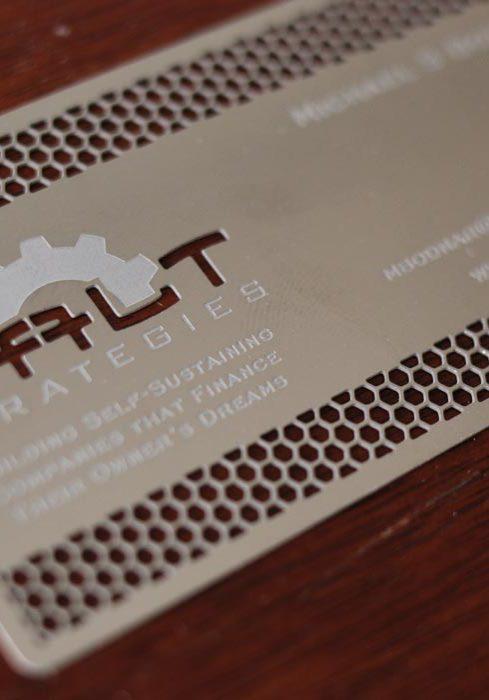 Galt Metal Business Cards