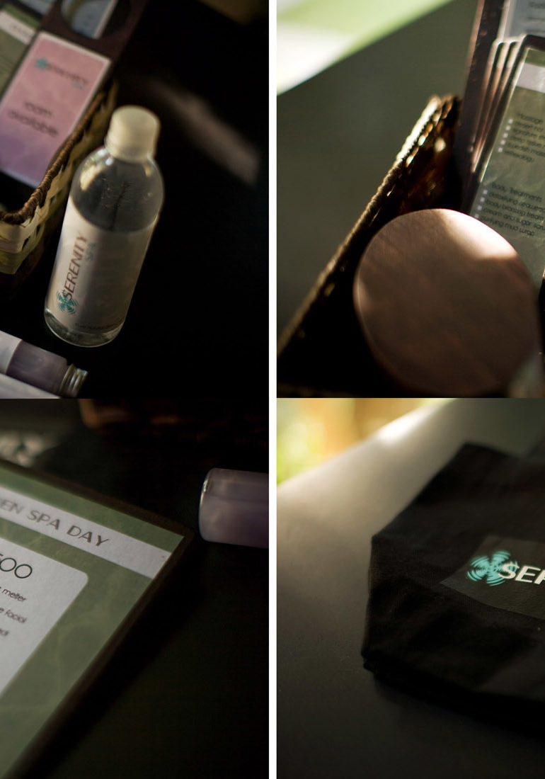 Serenity Day Spa Product Packaging